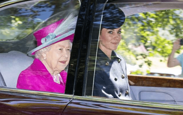 Kate Middleton and Prince William join Queen and other royals for church service at Balmoral