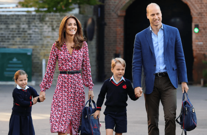 Princess Charlotte arrives for first day at school with Kate Middleton, Prince William and big brother Prince George